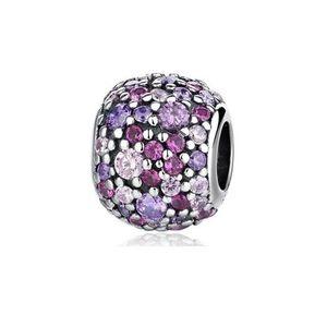 925 Sterling Silver Purple Charm